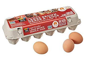 365 Everyday Value, Cage-Free Non-GMO Large Brown Grade A Eggs, 12 ct
