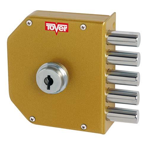 Tover 6000P, Cerradura seguridad cierre interior T2 c/llave dcha. esm.oro