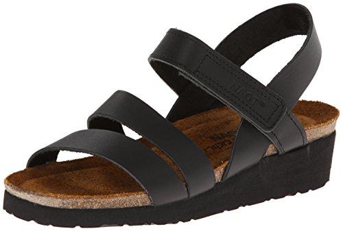 NAOT Footwear Women's Kayla Wide Sandal Black Matte Lthr 8 W US