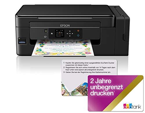 Epson EcoTank ET-2650 nachfüllbares 3-in-1 Tintenstrahl Multifunktionsgerät (Kopierer, Scanner, Drucker, DIN A4, WiFi, Display, USB 2.0 große Tintenbehälter, hohe Reichweite, niedrige Seitenkosten)