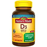 Nature Made Vitamin D3 1000 IU (25mcg) Tablets, 300 Count for Bone Health† (Packaging May Vary)