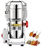 CGOLDENWALL 300g Molino de Cereales de Acero Inoxidable 1500W 28000RPM Alta Velocidad Molienda Superfina de 30s para Hierba Café Maíz Especias Condimentación Hogar/Comeicial