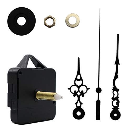 AERVEAL Reloj de Pared de Cuarzo silencioso DIY de un Segundo, Mecanismo de Movimiento, Herramientas de reparación de Manos, Reloj de Cuarzo
