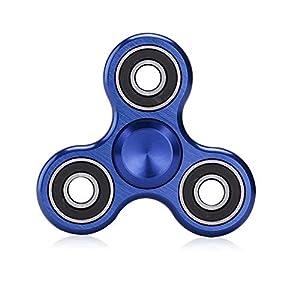 Missley Fidget Spinner Hoher Geschwindigkeit Handspielzeug Hand Spinner Special Finger Spinner Dekomprimierung Stress und Angst Relief (Blau-12)