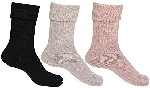 Bonjour Womens Thumb Socks (Pack of 3) (BROGWL-17A-PO3)(Colors & Print May Vary)