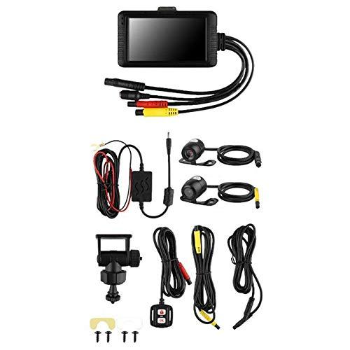 Viudecce 1080P HD 3.0 Pulgadas CáMara de Motocicleta SE100 Lente Dual Grabadora de ConduccióN Trasera Delantera Moto CáMara de VisióN Nocturna Dashcam