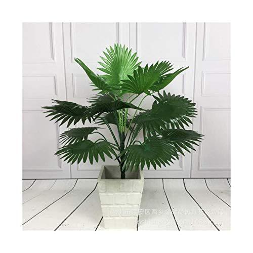 ADosdnn Künstliche Tropische Palme Seltene gefälschte Pflanzen Indoor Silk Blatt Topfhotelbüro Wohnzimmer Wohnkultur Pflanzen (Color : 56cm No Basin)