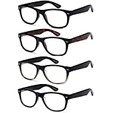 Gamma Ray Reading Glasses - 3 Pairs Spring Hinge Readers for Men and Women 1.50