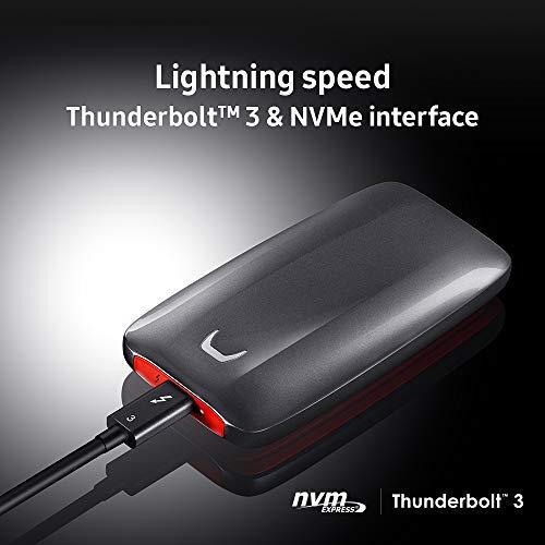 Samsung Memorie MU-PB2T0B SSD Esterno Portatile X5 da 2 TB, Thunderbolt3