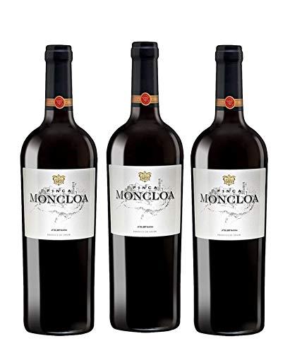 Finca Moncloa Syrah & Cabernet Sauvignon - Vino V.T. Cádiz - 3 Botellas de 750 ml - Total : 2250 ml