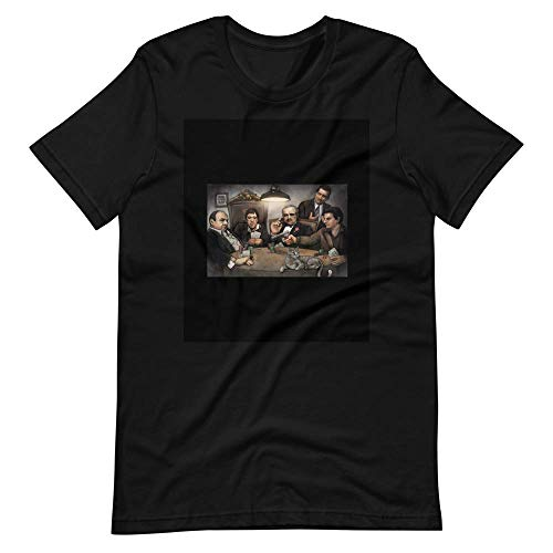 TAHOTEE FUNNY SHIRT Gangsters Painting Movie Goodfellas Godfather Casino Scarface Sopranos L Black Tshirt 7a6