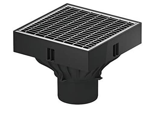 ACO Self® XtraPoint mit Maschenrost Stahl verzinkt Punktablauf Hofablauf Ablauf Bodenablauf Hausablauf Regenablauf