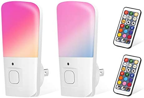 LOHAS RGB Night Light Plug in LED Color Changing Remote Control Nightlights Dimmable Daylight product image