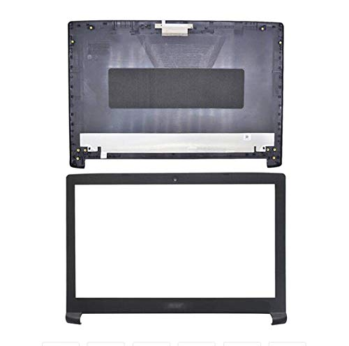 HuiHan Replacement for Acer Nitro 5 AN515-51 AN515-53 Series Top Case LCD Back Cover & LCD Front Bezel