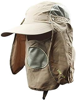 钓鱼帽,渔夫帽太阳帽 360° 紫外线防护夏季遮阳帽 男式女式遮阳帽可拆卸颈部面罩 适用于远足沙滩野营户外园丁