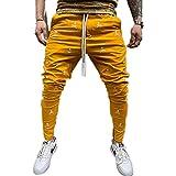 N\P Pantalones deportivos de fitness para hombre con estampado de cremallera de pie de hip hop para hombre