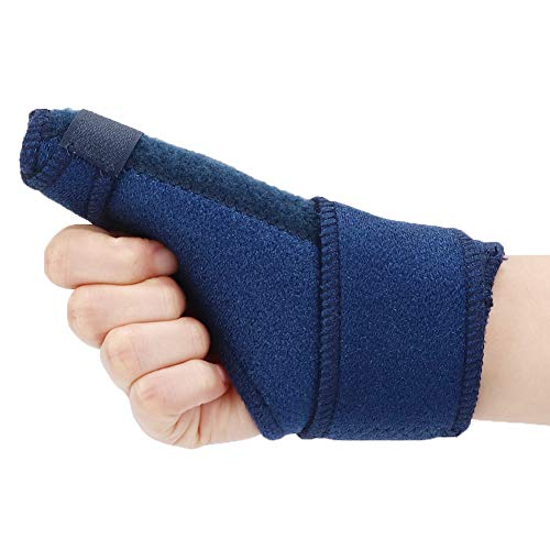 Cinturón de corrección doblado del dedo, azul oscuro enderezando el tratamiento de inmovilizador de la placa de aluminio Curva de dedo Tamaño medio hecho de material compuesto