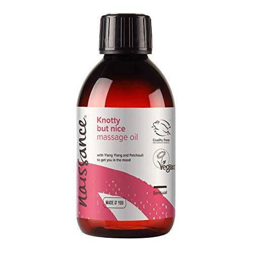 Naissance Knotty but Nice – genomtänkt & afrodisisk massageolja 250 ml 100 % naturlig blandning av druvkärnolja och eteriska oljor
