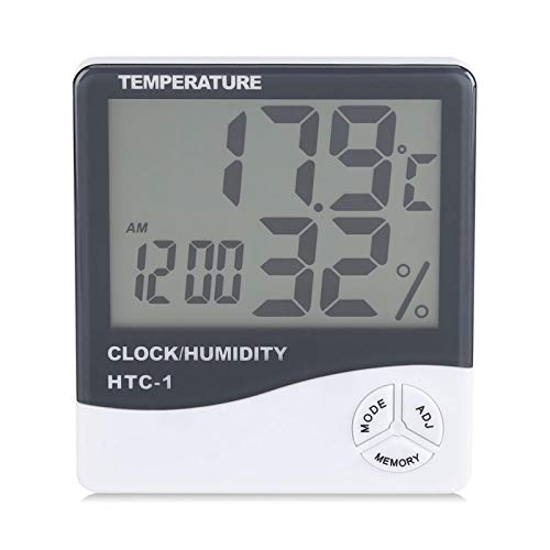 FECAMOS Temperatura Interna, termometro Digitale LCD Economico con Funzione di Memoria per L'Ufficio per casa
