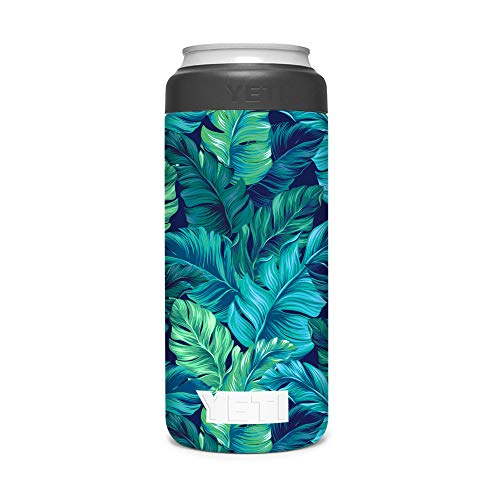 KRAFT'D Wrap Compatible with Yeti (R) Rambler 12 OZ Colster Slim Can Insulator - Decal Vinyl Only - Stylize Your Can Cooler for your Thin Can Beverages - Monstera Swiss Cheese