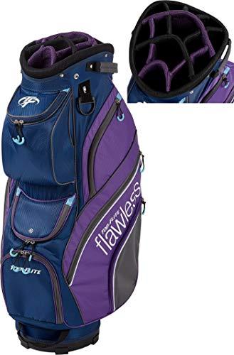 2019 Top-Flite Womens Flawless Golf Cart Bag 14-Way Top 14 Pockets Beverage Cooling Pocket (Navy/Purple)