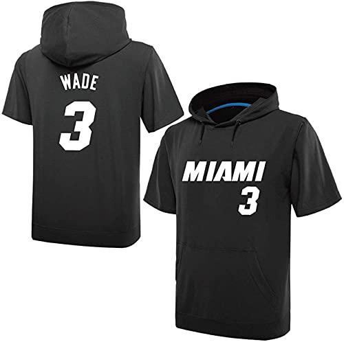 3 Wade Boy Sweve Sweat Sweat Sigs Sports Jums Otoño Primavera Luz Casual Slim Clásico Suéter Camiseta Paquete De Traje, Blanco, Black - L