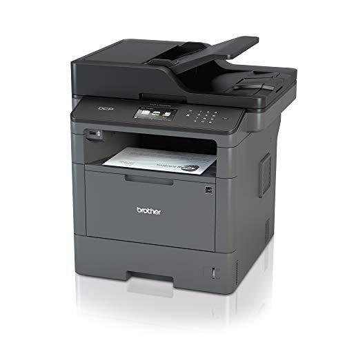 Brother DCPL5500DN Stampante Multifunzione Laser Senza Fax, Bianco e Nero, Velocità di Stampa 40 ppm, Stampa Fronte/Retro Automatica, Rete Cablata (no W-iFi), Display Touchscreen a Colori da 9.3 cm