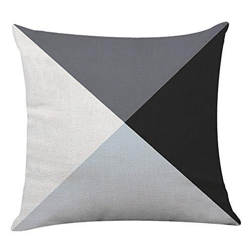 Leaf KissenhüLle Mode Geometrische Throw Pillowcase KissenbezüGe Couch Dekoratives Sofakissen Leinen 45 * 45 Bedruckter Kissen Fall Schlafzimmer Sofa ZierkissenbezüGe