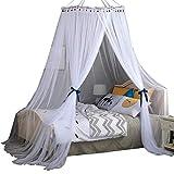 Moskitonetz Insektenschutz-Wurmnetz 360 ° Anti-Moskito Moskitonetz im schlichten Stil für 1,2 m bis 2 m breite Betten