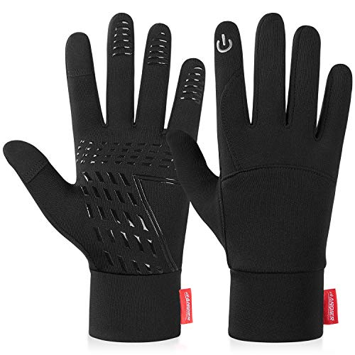 Anqier Running Gloves Touch Screen Gloves Lightweight Warm Liner Winter Gloves Men Women