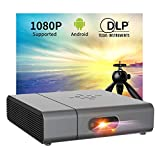 "Smart Projector - Artlii Venus WiFi Bluetooth Mini Projector with Android, 240 ANSI Lumen DLP Projector with 350"" Screen, Home Projector Support 1080P, 3D and ±45°4D Keystone"