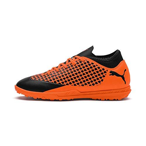Puma Future 2.4 TT Jr, Zapatillas de Fútbol Unisex Adulto, Negro Black-Shocking Orange 02, 38.5 EU