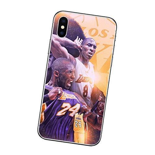 XMYP Kobe Funda para iPhone 7/8, 7/8 Plus, Lakers 24# Negro Mamba Funda protectora para teléfono móvil, carcasa ultra delgada para niños, hombres, adolescentes A-7/8
