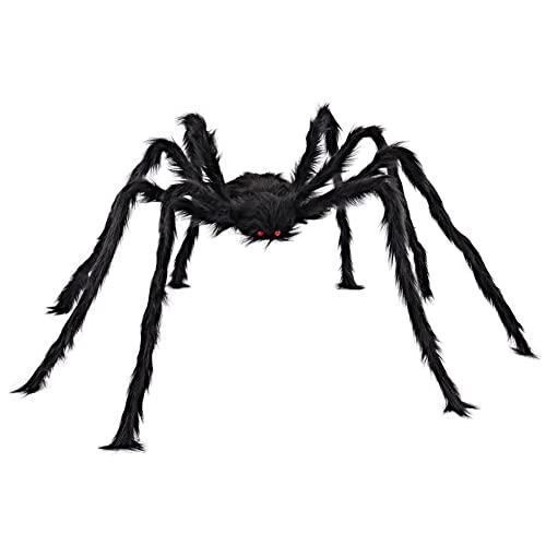 JOYIN 1.52 Meter Halloween Outdoor Dekorationen Haarige Spinne (Schwarz)