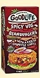 GOODLIFE Hamburguesa de frijoles picantes con salsa de chile Chipotle 454g (4)