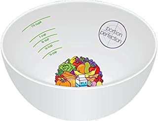 PORTION CONTROL BOWL, MELAMINE for Weight Loss, Bariatric Surgery, Diabetes and Healthier Diets. Educational, visual tool for adults and children by Dietitian Amanda Clark