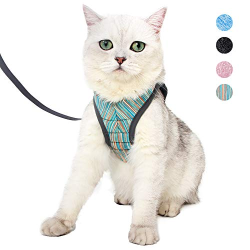 Yult Cat Harness and Leash - Ultra Light Escape Proof Kitten Collar Cat Walking Jacket with Running Cushioning Soft and Comfortable Suitable for Puppies Rabbits