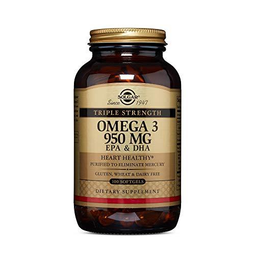 Solgar Omega-3 EPA & DHA Dreifach Wirksam 950 mg 100 Weichkapseln