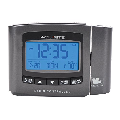 professional AcuRite 13239A1 Atomic projection clock with room temperature measurement