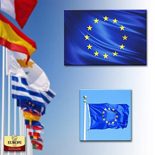 BANDERA DE EUROPA 150X90 CM BANDERA EUROPEA EU ADAPTADA PARA MASTIL POLIESTER