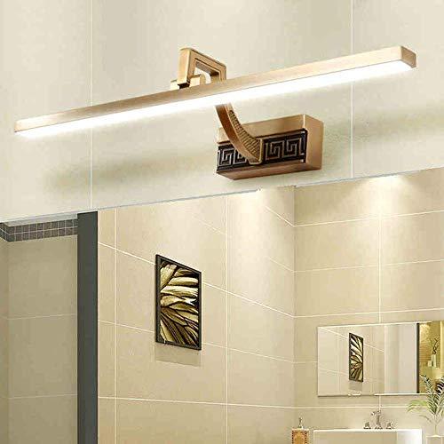 Allamp Home Bathroom Refleel Footlights LED Baño Iluminación LED Lámpara integrada Cabeza 240 y DG;Bombilla blanca cálida ajustable 4200K incluida, espejo de faros, 41 cm-8W