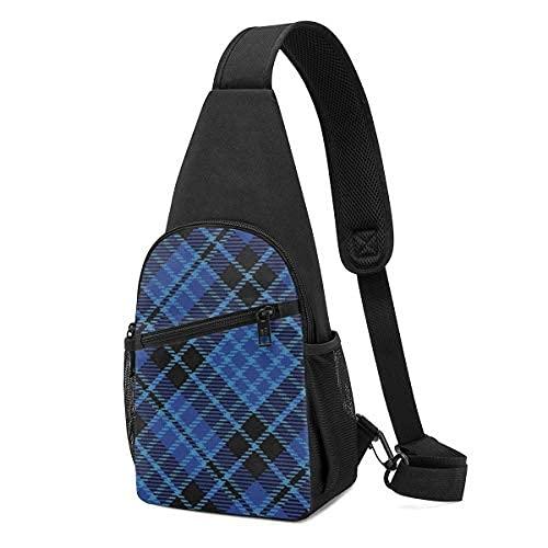 Escocés estilo escoceses Clero escocesa Plaid Sling Mochila bandolera bandolera