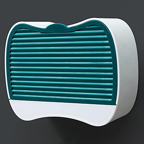LYZL Estanteria Baño Ducha, Jabonera De Pared, Diseño De Concha, Colgante para Pared Accesorios Bano, Instalación Sin Perforaciones, para Baño Ducha(Un par),Verde,Size A