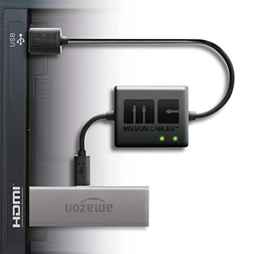 【最新版 Amazon Fire TV Stick専用】 Mission cables テレビ USBポートから AC電源を使用せず利用可能 テ...