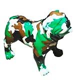 Estatua de resina decorativa de bulldog inglés 130 cm