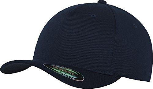 Flexfit 5 Panel Baseball Cap - Unisex Mütze, Kappe für Herren und Damen, einfarbige Basecap, rundum geschlossen - Farbe navy, Größe L/XL