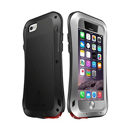 Money dock Love Mei for iPhone 6 Metal Ultrafino Impermeable A Prueba de Polvo A Prueba de Golpes Versión de actualización de Cintura pequeña Funda Protectora` (Color : Gris)
