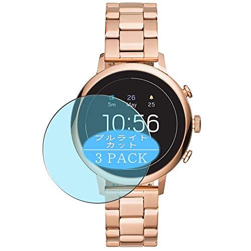 VacFun 3 Piezas Filtro Luz Azul Protector de Pantalla, compatible con Fossil Gen 4 Q Venture HR FTW6018 Smartwatch smart watch, Screen Protector Película Protectora(Not Cristal Templado) NEW Version