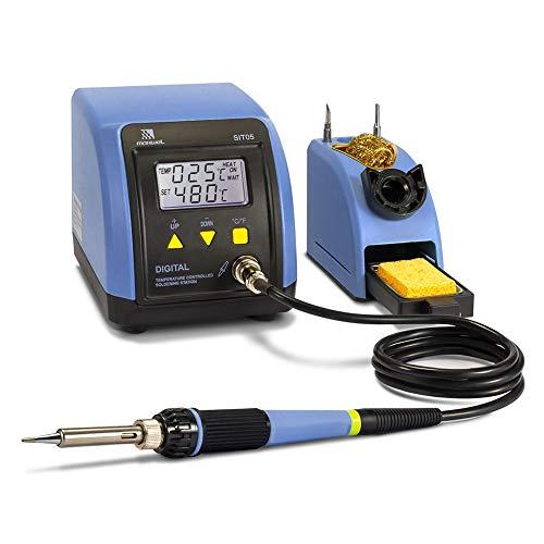 Soldering Iron Station Kit - 110V 60W Digital LED Soldering Station Temperature Adjustable 10 Minute Sleep Function Welding Tools for DIY Hobbyist/Professional Solder Jobs