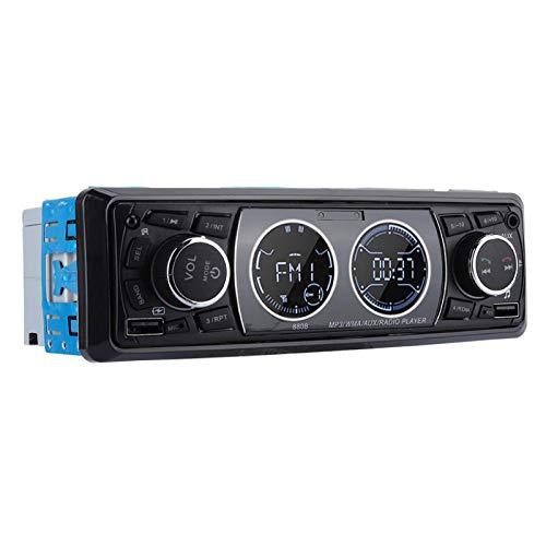 FOLOSAFENAR SWM-8808 Reproductor MP3 de un Solo DIN Reproductor MP3 estéreo Manos Libres para automóvil, Compatible con USB/FM/SD, para Radio de Audio para automóvil